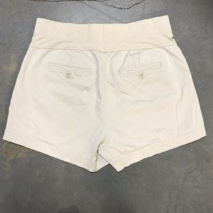 Oh Baby Khaki Maternity Shorts With Elastic Waist